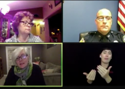 Zoom meeting with a sign language interpreter